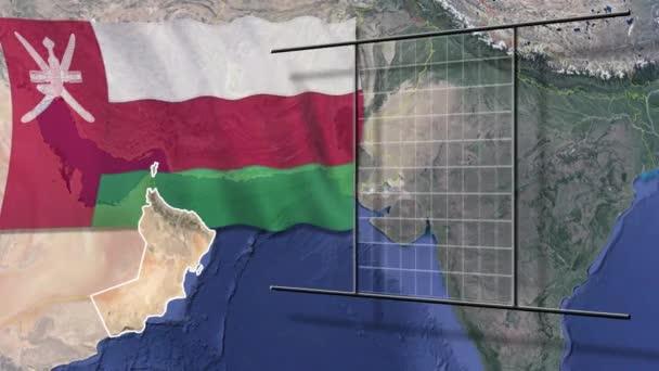 Státy světové vlajky a mapa animace