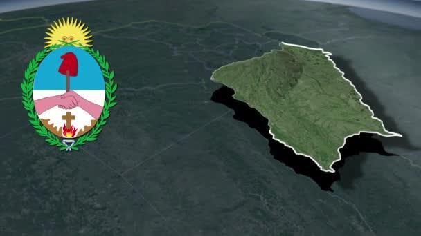 Verwaltungsgliederung von Argentinien Corrientes whit Wappen Animation Landkarte