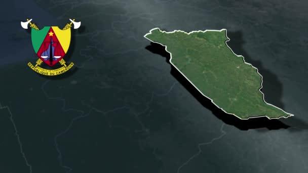 animace geografické mapy plochá