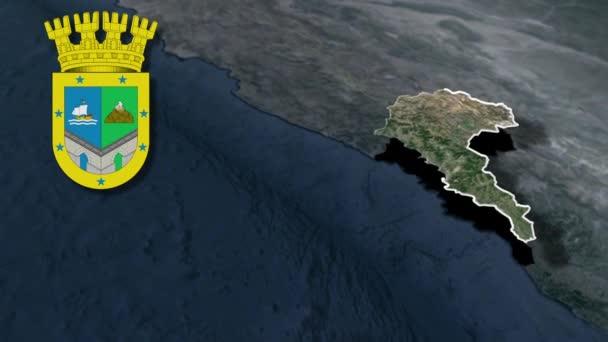 Regionen Chiles Valparaiso mit Wappenanimation Karte