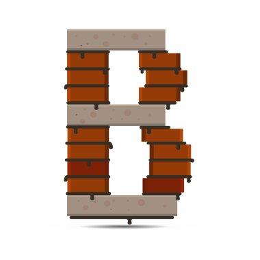 letter vector brick logo
