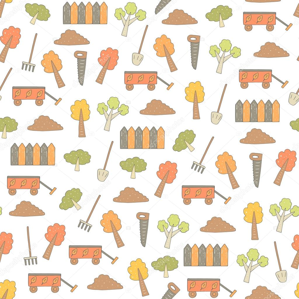 Cute hand drawn doodle seamless pattern