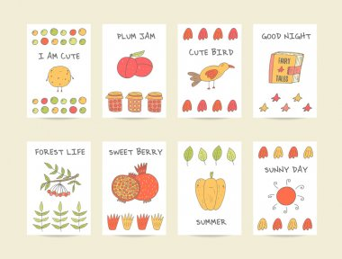 PrintCute hand drawn doodle baby shower cards, brochures, invitations