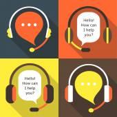 Fényképek Flat style call center earphones