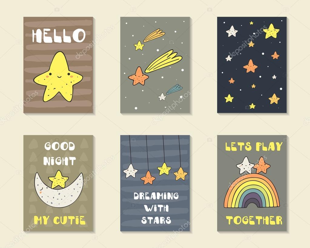 Cute hand drawn cards