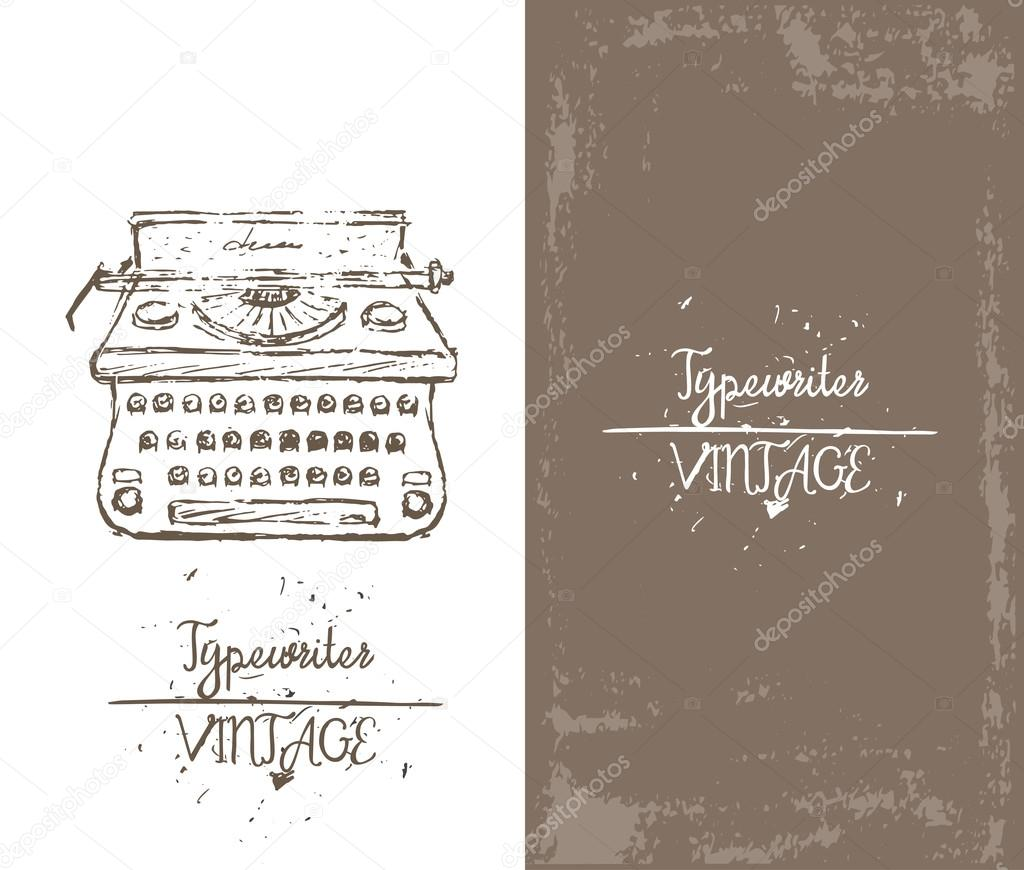 Vektorgrafiken Рука нарисованные вектор пишущая машинка ...