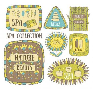 Creative hand drawn spa logos