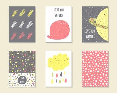 Cute doodle cards.