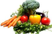 čerstvá zelenina, izolované na bílém