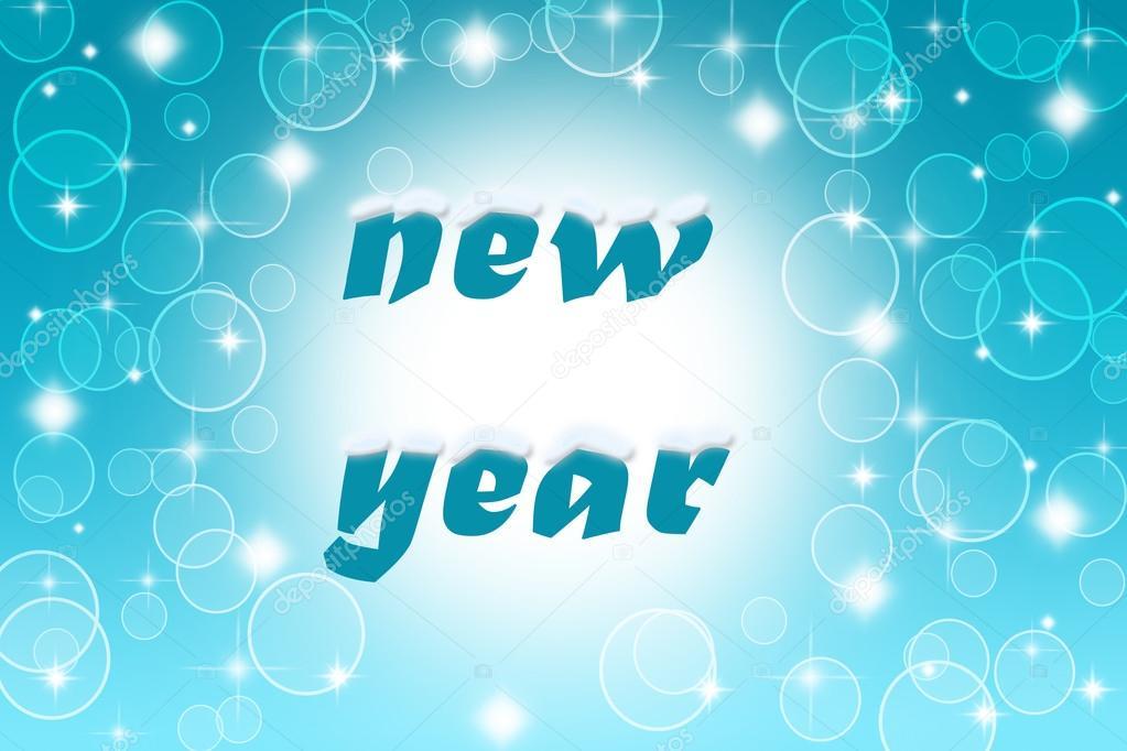 Blaue Blasen und Lens Flares mit guten Rutsch ins Neue Jahr wünschen ...