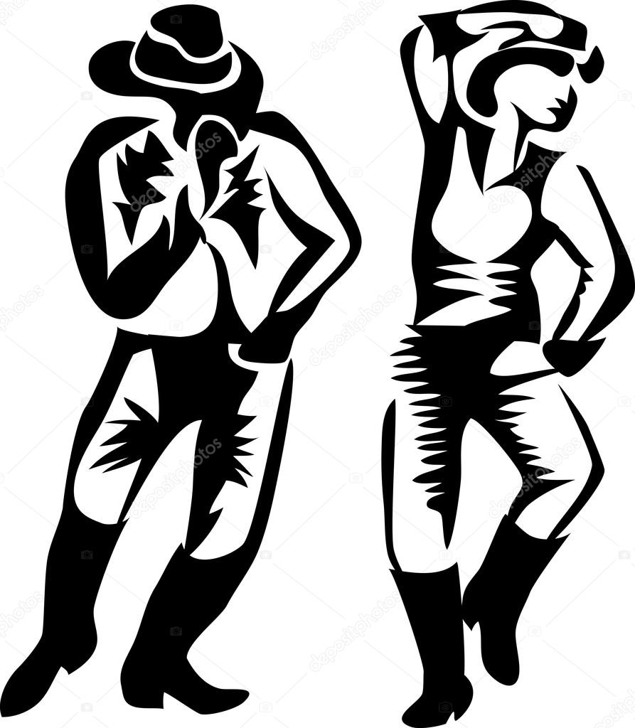 Country Western Dancing Cliparts, Stock Vector And Royalty Free Country  Western Dancing Illustrations