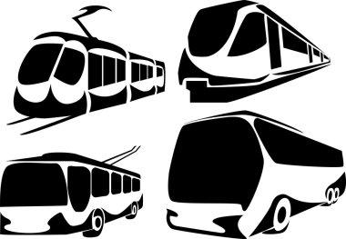 public transportation in a city
