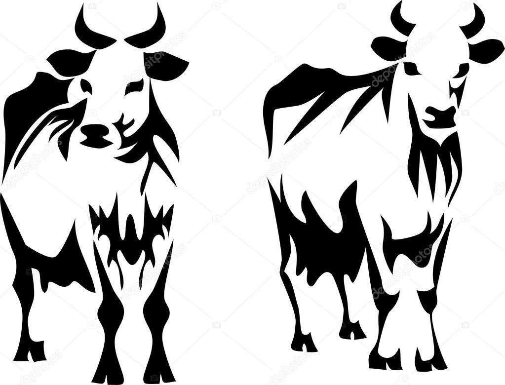 乳牛のイラスト ストックベクター Bokononist 90370584