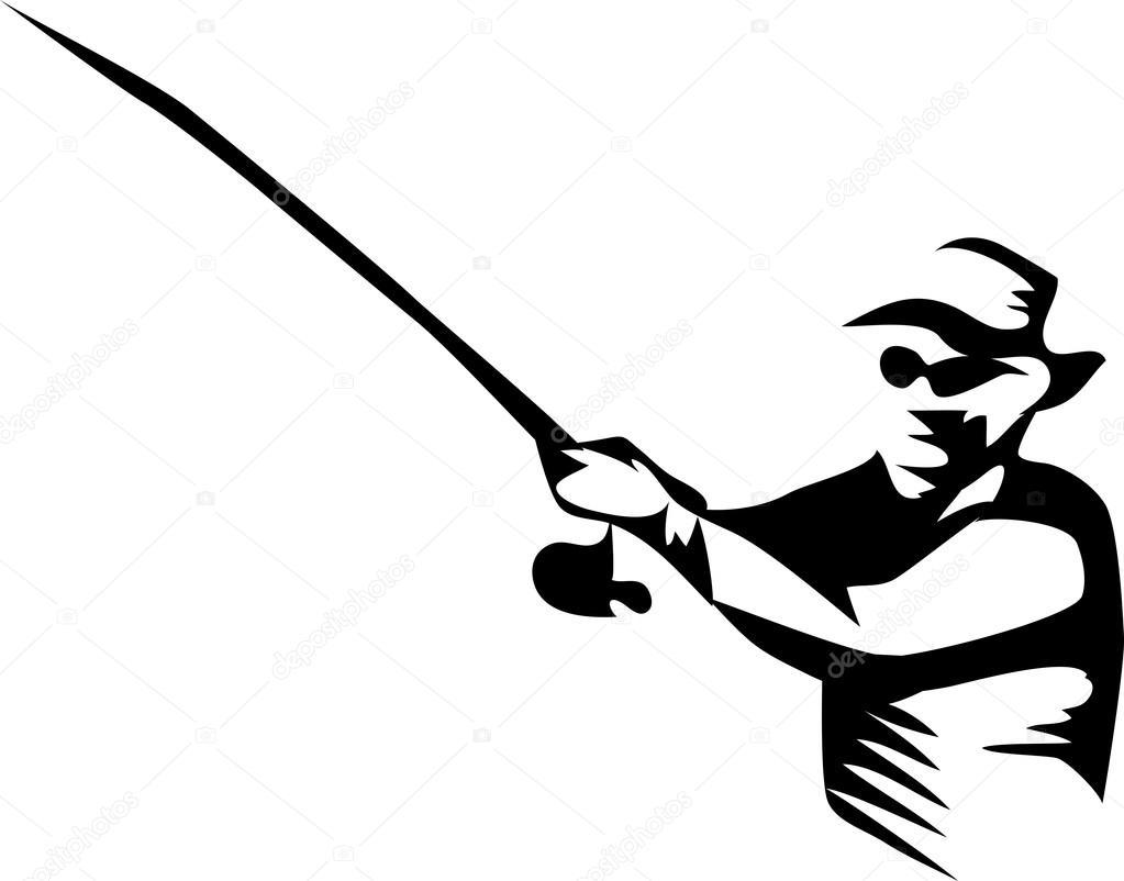 fisherman vector illustration stock vector c bokononist 98072434 https depositphotos com 98072434 stock illustration fisherman vector illustration html