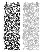Ornate vector floral pattern