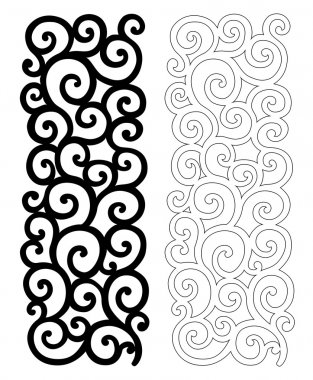 ornate pattern for cutting