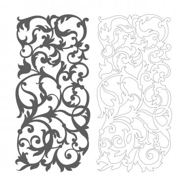 Ornate vector floral pattern for cutting on white background stock vector