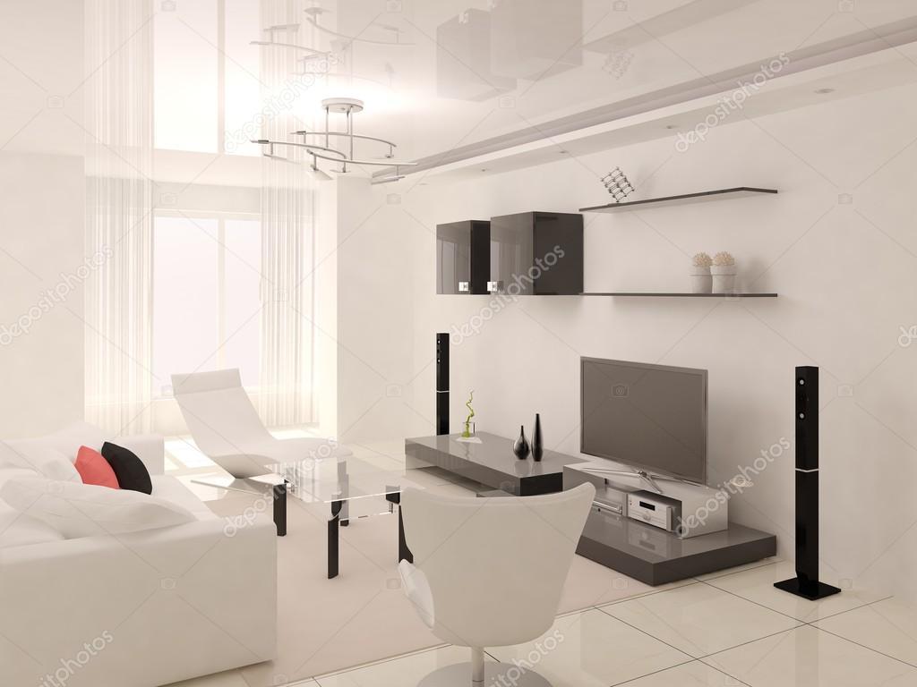 Moderne Stilvolle Wohnzimmer U2014 Stockfoto #93452258