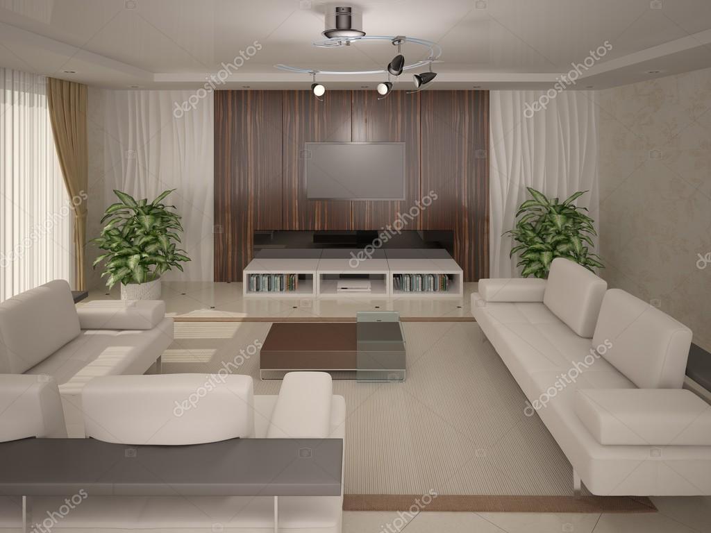 soggiorno stile contemporaneo — Foto Stock © wodoplyasov #93774346