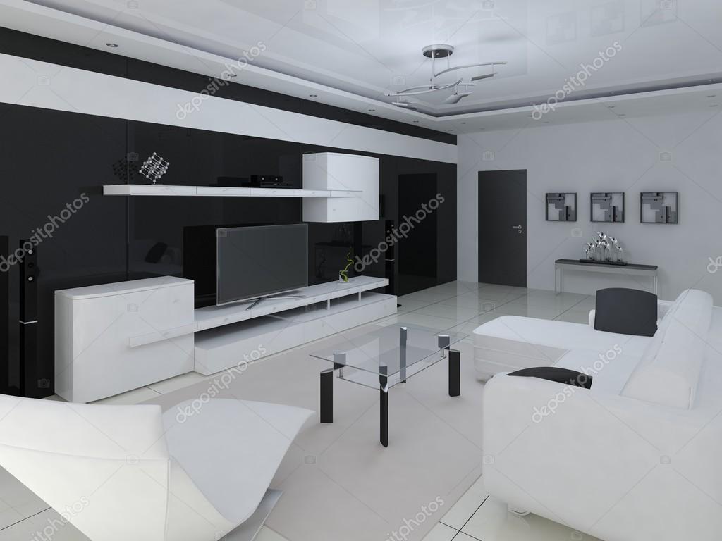 Salotto Hi Tech.Salone Moderno Hi Tech Interer Foto Stock C Wodoplyasov