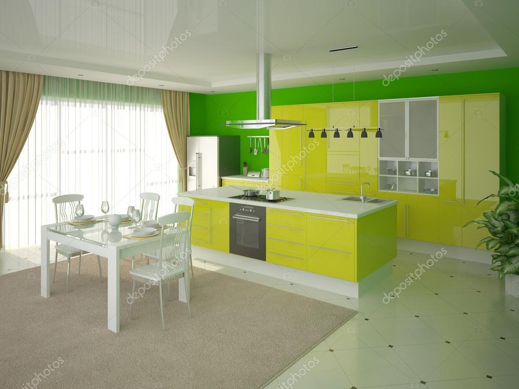 cucina in stile contemporaneo — Foto Stock © wodoplyasov #96667324