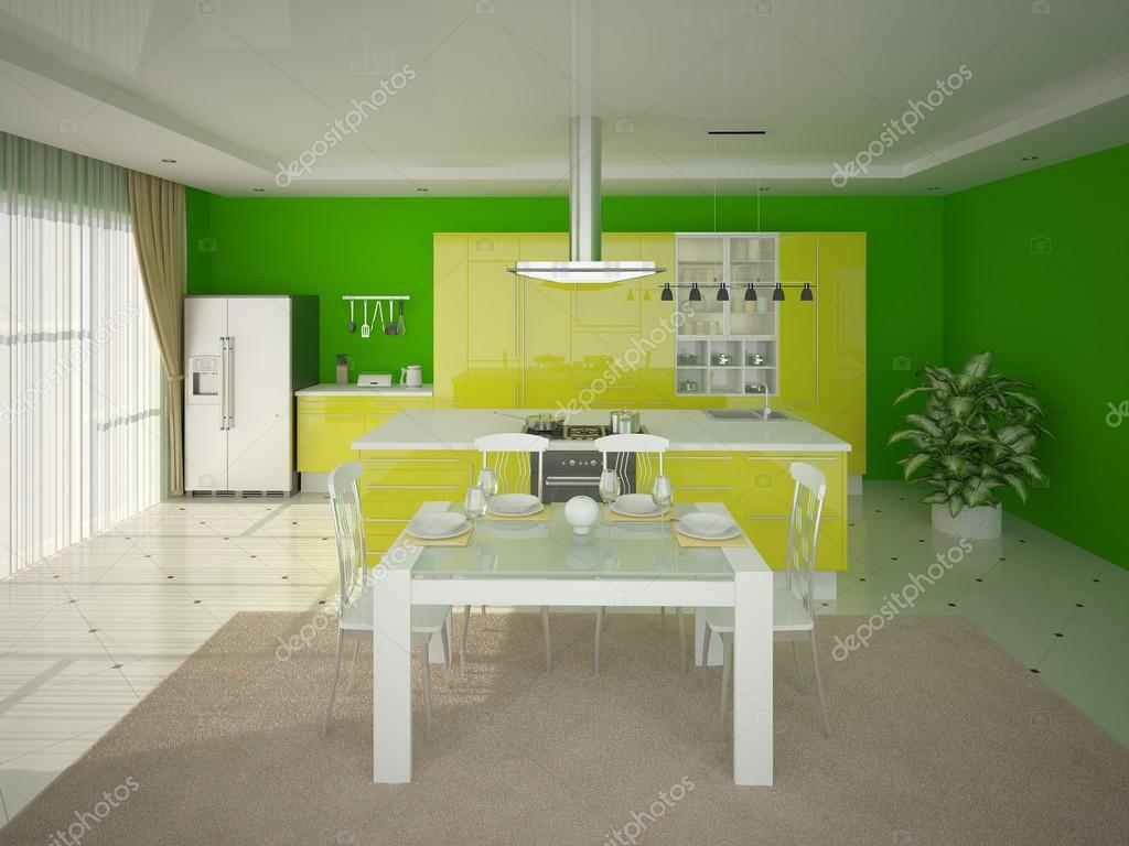 Cucina in stile hi-tech — Foto Stock © wodoplyasov #96674386