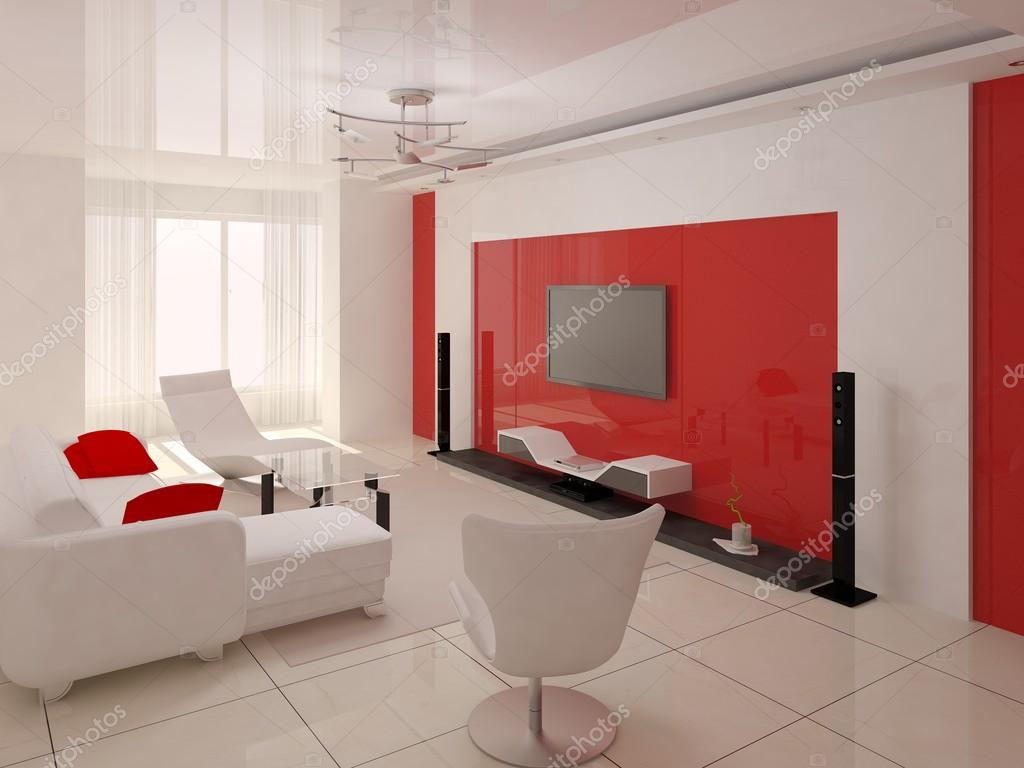 illustration of a modern living room interior design ストック