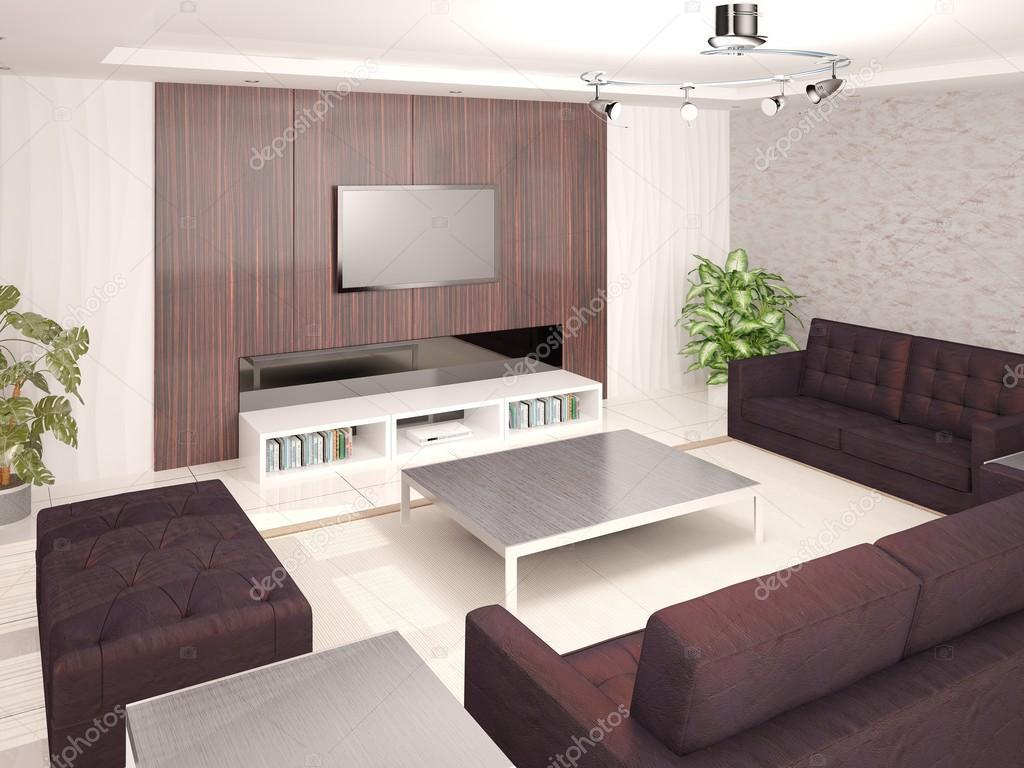 Een stijlvolle woonkamer ontwerpen — Stockfoto © wodoplyasov #99046486