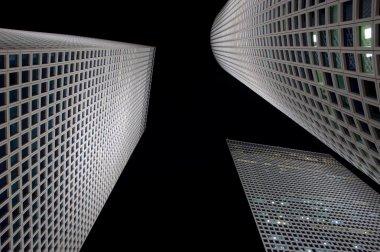 White Skyscrapers, Night