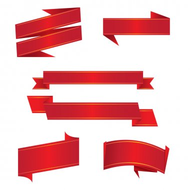 Red Paper Ribbons
