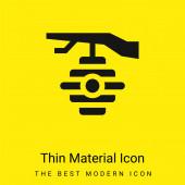 Včelí minimální jasně žlutý materiál ikona