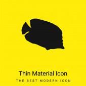 Bannerfish Silhouette minimális fényes sárga anyag ikon