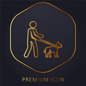 Slepé zlaté prémiové logo nebo ikona