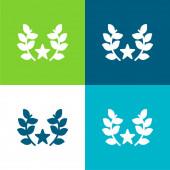 Díj Lakás négy szín minimális ikon készlet