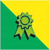 Ocenění Zelené a žluté moderní 3D vektorové logo