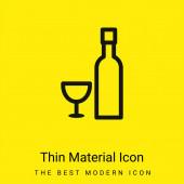 Láhev a sklo minimální jasně žlutý materiál ikona