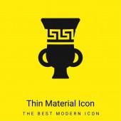 Amfora minimální jasně žlutý materiál ikona