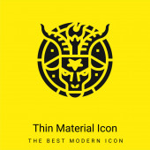 Baphomet minimal bright yellow material icon
