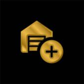 Přidat pozlacenou kovovou ikonu nebo vektor loga