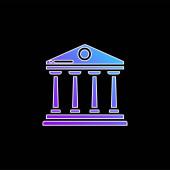 Ikona modrého přechodu banky