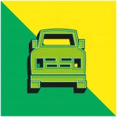 All Terrain Zöld és sárga modern 3D vektor ikon logó