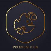 Logo nebo ikona prémiové zlaté linie Ďasovitých