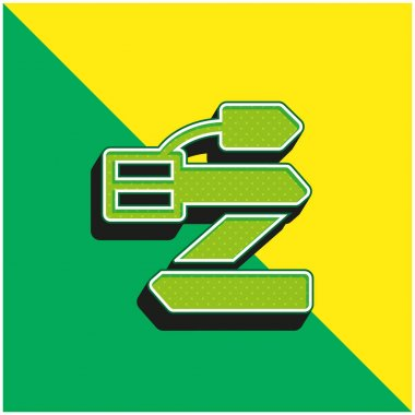 Belt Green and yellow modern 3d vector icon logo stock vector