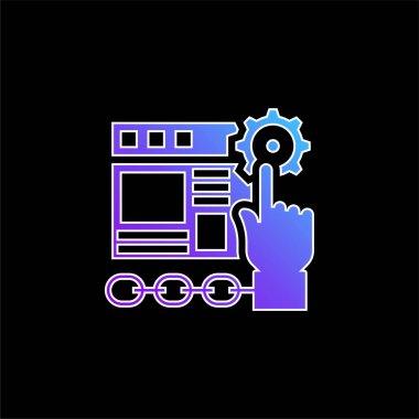 Application blue gradient vector icon stock vector
