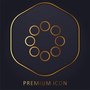 Bead golden line premium logo or icon stock vector