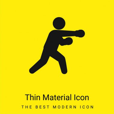 Boxing Fighter minimal bright yellow material icon stock vector
