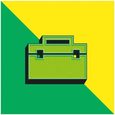 Black Portfolio Green and yellow modern 3d vector icon logo