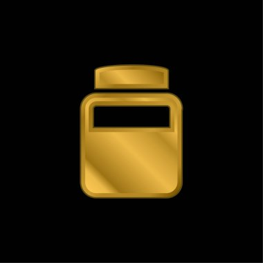 Bottle Of Chemical Elements gold plated metalic icon or logo vector stock vector