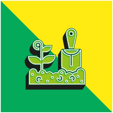 Agriculture Green and yellow modern 3d vector icon logo stock vector