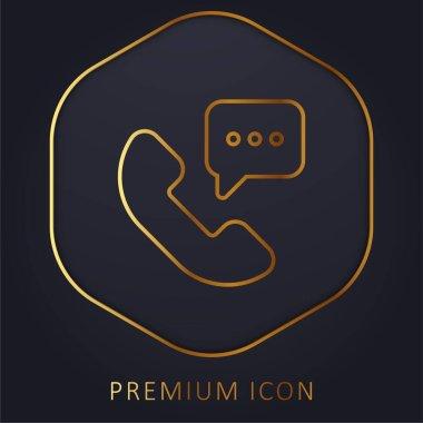 24 Hours golden line premium logo or icon stock vector